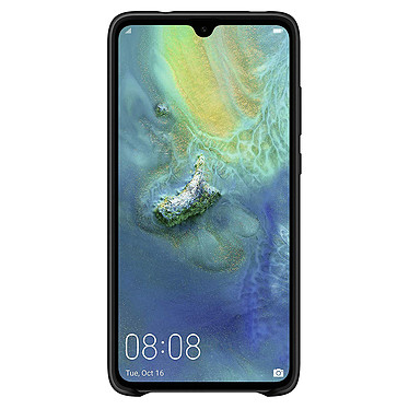 Huawei Silicone Case Noir Mate 20 Coque arrière simi-rigide en silicone pour Huawei Mate 20