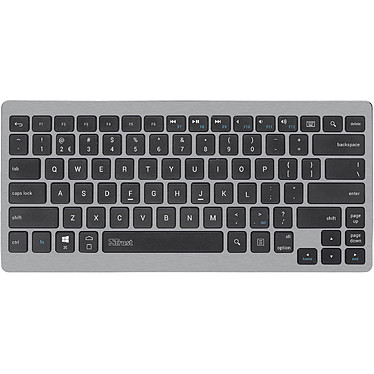 Trust Entea Clavier sans fil bluetooth - Windows 7/8/10, Android 4.0+, iOS 5.0+ (AZERTY, Français)