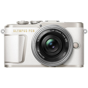 "Olympus E-PL9 Blanc + 14-42mm EZ Pancake Appareil photo hybride 16.1 MP - Écran tactile inclinable 3"" - Vidéo Ultra HD - Stabilisation 3 axes - Wi-Fi/Bluetooth - HDMI"
