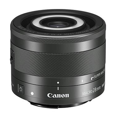 Canon EF-M 28 mm f/3.5 IS STM Objectif macro ultra compact avec flash intégré pour appareil hybride