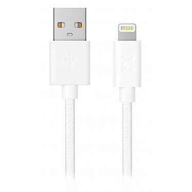xqisit Charge & Sync USB-A / Lightning Blanc - 1.8m Câble de chargement et synchronisation USB-A vers Lightning (1.8m)