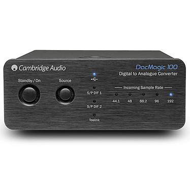 Cambridge DacMagic 100 Noir DAC 24 bits / 192 kHz avec 3 entrées numériques et entrée USB asynchrone
