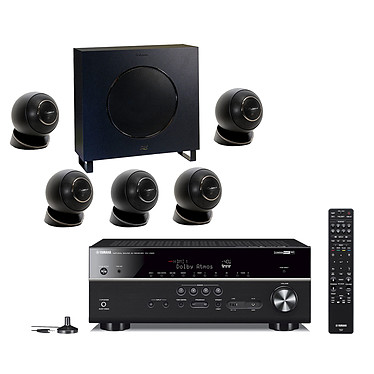 Yamaha RX-V685 Noir + Cabasse Eole 4 Noir Ampli-tuner Home Cinéma 7.2 3D 90 W/canal - Dolby Atmos / DTS:X - 5 entrées HDMI 2.0 HDCP 2.2 - HDR 10/Dolby Vision/HLG - Bluetooth/Wi-Fi/AirPlay - MusicCast - Calibration YPAO - Zone 2 + Pack d'enceintes 5.1