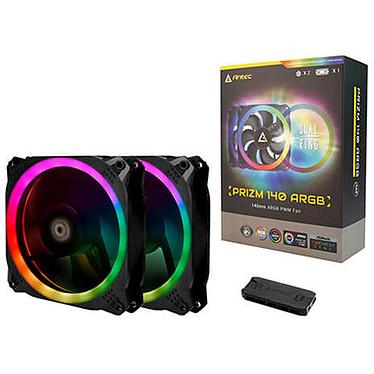 Antec Prizm 140 ARGB 2+C 2 x ventilateurs de boîtier PWM 140 mm avec LED RGB + contrôleur LED RGB