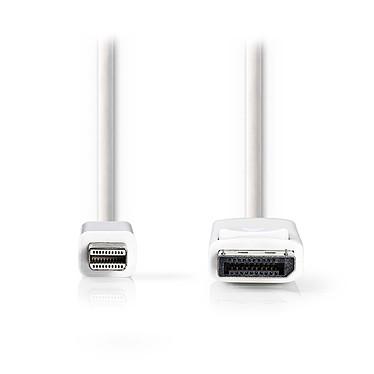Nedis Mini DisplayPort macho a DisplayPort macho cable Cable macho Mini DisplayPort macho a DisplayPort - 2 metros