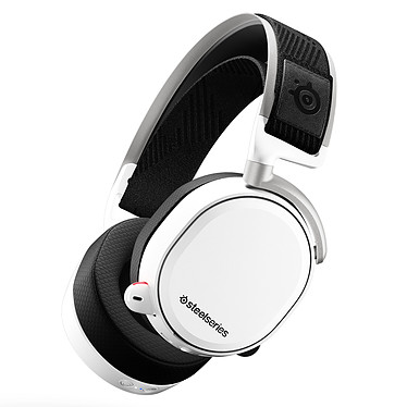 SteelSeries Arctis Pro Wireless Blanc Casque gaming sans fil - Circum-aural fermé - DTS Headphone:X v2.0 - Microphone bidirectionnel rétractable avec suppression du bruit - Jack/Optique/USB - Compatible PC/Mobiles et consoles