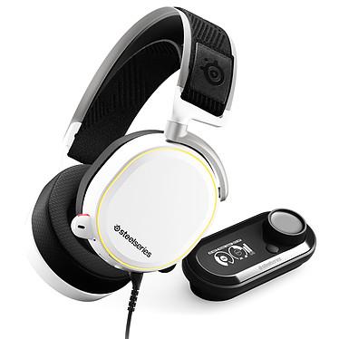 SteelSeries Arctis Pro + GameDAC Blanc Casque gaming Hi-Res - Circum-aural fermé - DTS Headphone:X v2.0 - Microphone bidirectionnel rétractable avec suppression du bruit - rétroéclairage RGB 16.8 millions de couleurs - Jack/Optique/USB - Amplificateur GameDAC - Compatible PC/Mobiles et consoles