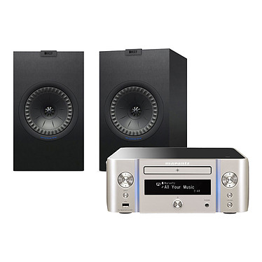 Marantz Melody Stream M-CR611 Argent/Or + KEF Q350 Noir