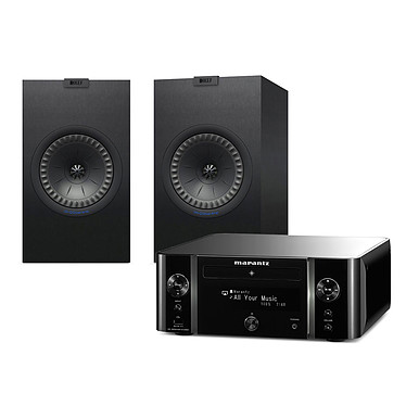Marantz Melody Stream M-CR611 Noir + KEF Q350 Noir