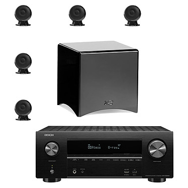 Denon AVR-X2500H Noir + Cabasse pack Eole 3 5.1 WS Noir