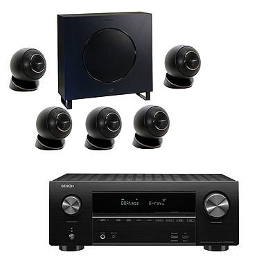 Denon AVR-X2500H Noir + Cabasse Eole 4 Noir Ampli-tuner Home Cinema 3D Ready 7.2 - Dolby Atmos / DTS:X - 8x HDMI 4K Ultra HD, HDCP 2.2, HDR - Wi-Fi, Bluetooth, AirPlay 2 - Multiroom - Amazon Alexa + Pack d'enceintes 5.1