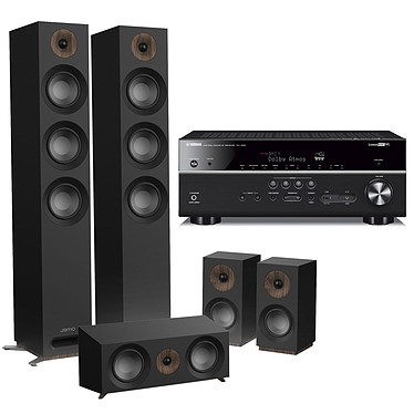 Yamaha RX-V685 Noir + Jamo S 809 HCS Noir Ampli-tuner Home Cinéma 7.2 3D 90 W/canal - Dolby Atmos / DTS:X - 5 entrées HDMI 2.0 HDCP 2.2 - HDR 10/Dolby Vision/HLG - Bluetooth/Wi-Fi/AirPlay - MusicCast - Calibration YPAO - Zone 2 + Pack d'enceintes 5.0 compatible Dolby Atmos