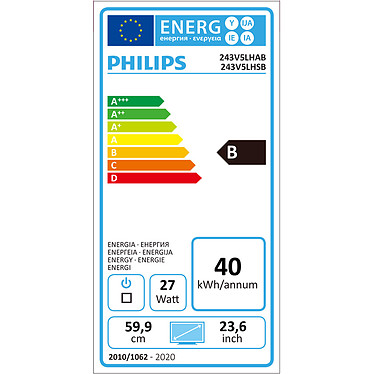 """Acheter Philips 23.6"""" LED - 243V5LHAB"""