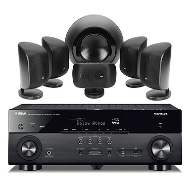 Yamaha MusicCast RX-A680 Noir + B&W MT-60 Noir Ampli-tuner Home Cinéma 7.2 3D 80W/canal - Dolby Atmos/DTS:X - 4x HDMI HDCP 2.2 Ultra HD 4K - Wi-Fi/Bluetooth/DLNA/AirPlay - MusicCast/MusicCast Surround - A.R.T. Wedge - Calibration YPAO + Pack d'enceintes compactes 5.1