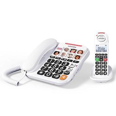 Swissvoice Xtra 3155 Téléphone filaire à grosses touches avec combiné supplémentaire DECT à grand écran