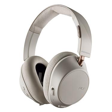Plantronics BackBeat GO 810 Blanc Casque circum-aural sans fil Bluetooth 5.0 avec annulation active du bruit, commandes, micro et étui