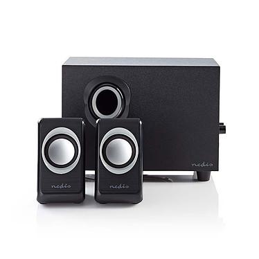 Nedis 2.1 Speaker Set (16W) Kit d'enceintes avec caisson de basses - son stéréo 2.1 - 16W RMS - connexion Jack 3.5 mm - alimentation USB