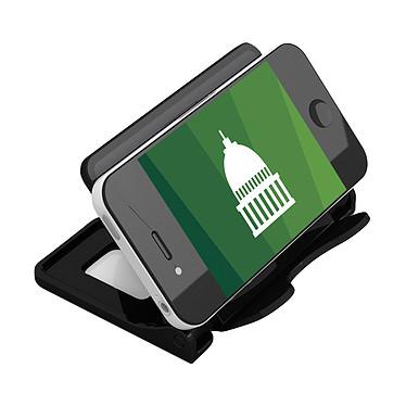 deflecto Porte smartphone pliable noir Porte smartphone avec coussinets antidérapants et angle ajustable - Compatible iPhone