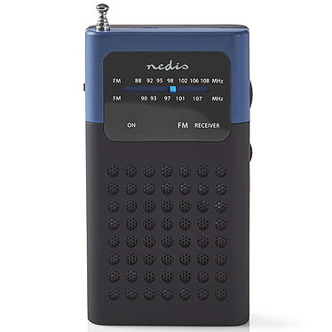 Nedis RDFM1100 Noir/Bleu Radio de poche portable FM 1,5W