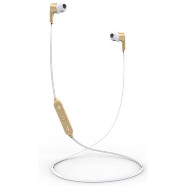 Akashi Ecouteurs Bluetooth avec Micro Or Ecouteurs intra-auriculaires stéréo Bluetooth avec télécommande et microphone