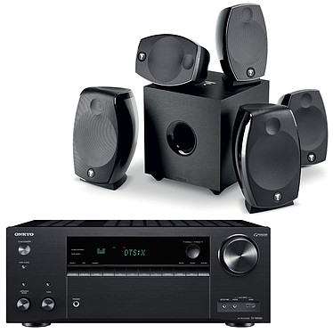 Onkyo TX-NR686E Noir + Focal Sib Evo 5.1.2 Dolby Atmos Ampli-tuner Home Cinéma 7.2 - 165 Watts - THX - Wi-Fi/Bluetooth - Dolby Atmos - DTS:X - Multiroom - 4K/60p - HDCP 2.2 - AirPlay/Chromecast - Hi-Res Audio - 7 entrées HDMI + Pack d'enceintes 5.1.2
