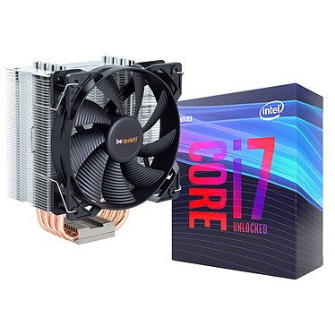 Intel Core i7-9700K + be quiet! Pure Rock Processeur 8-Core Socket 1151 Cache L3 12 Mo Intel UHD Graphics 630 0.014 micron (version bulk - ventilateur et pâte thermique inclus - garantie 1 an)