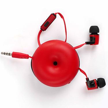 Livoo TES201 Rouge Écouteurs intra-auriculaires avec micro