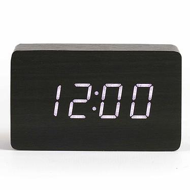 Livoo RV150 Noir Horloge digitale avec fonction réveil, thermomètre et calendrier