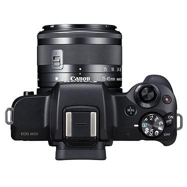 Acheter Canon EOS M50 Noir + EF-M 15-45 mm IS STM Noir + SB130 + SanDisk SD 16 Go