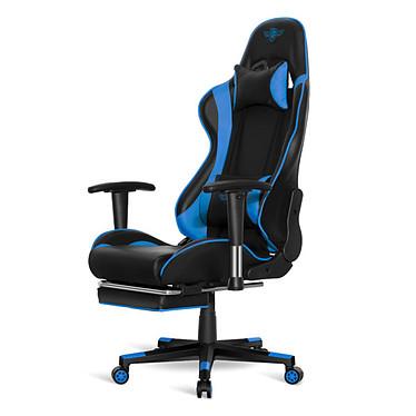 Spirit of Gamer Hornet (Bleu) Siège en similicuir pour gamer avec dossier réglable à 180°, accoudoirs 2D et repose-jambes intégré (jusqu'à 120 kg)