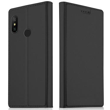 Akashi Etui Folio Porte Carte Noir Xiaomi Redmi Note 6 Pro Etui folio avec porte carte pour Xiaomi Redmi Note 6 Pro
