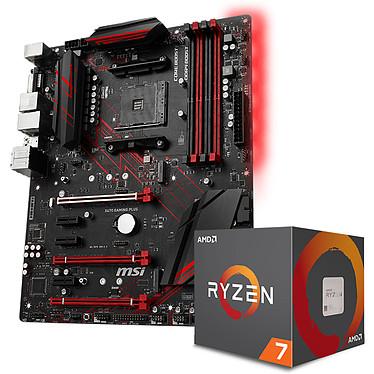 AMD Ryzen 7 2700X Wraith Prism Edition (3.7 GHz) + MSI X470 GAMING PLUS Processeur 8-Core socket AM4 Cache L3 16 Mo TDP 105W avec système de refroidissement + Carte mère ATX Socket AMD AM4 X470