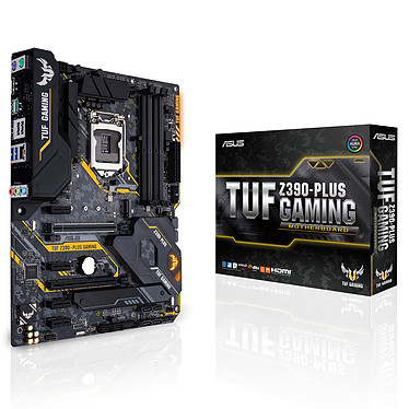 ASUS TUF Z390-PLUS GAMING Carte mère ATX Socket 1151 Intel Z390 Express - 4x DDR4 - SATA 6Gb/s + M.2 - USB 3.1 - 2x PCI-Express 3.0 16x