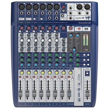 Soundcraft Signature 10 Consola de mezclas de 10 vías con 6 preamplificadores de micrófono, interfaz USB y efectos Lexicon