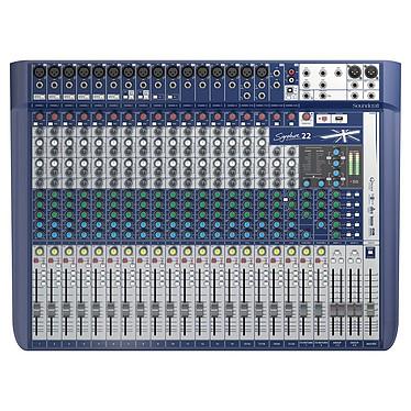 Soundcraft Signature 22 Console de mixage 22 voies avec 16 préamplis micro, interface USB et effets Lexicon double moteur