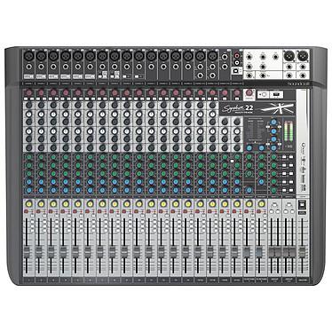 Soundcraft Signature 22 MTK Consola de mezclas de 22 canales con 16 preamplificadores de micrófono, USB multicanal y efectos de motor Lexicon dual
