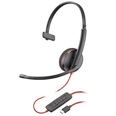 Plantronics Blackwire C3210 USB-C Casque-micro USB monaural optimisé pour Microsoft Lync & Skype for Business