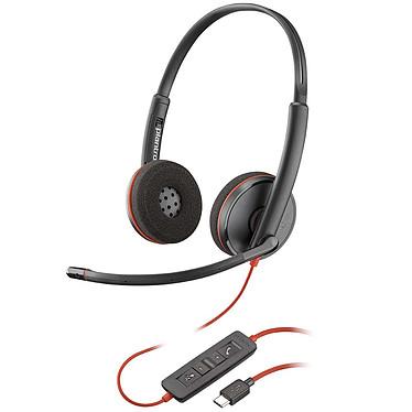 Plantronics Blackwire C3220 USB-C Casque-micro USB stéréo optimisé pour Microsoft Lync & Skype for Business
