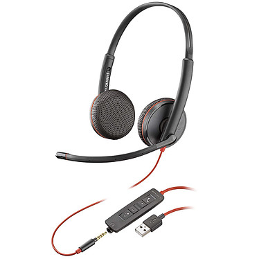 Plantronics Blackwire C3225 USB-A Casque-micro USB stéréo avec connecteur Jack 3.5mm optimisé pour Microsoft Lync & Skype for Business