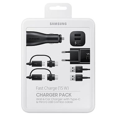Samsung Charger Pack EP-U3100WBEGWW Pack énergie avec chargeur secteur rapide et allume cigare double avec USB-C / micro-USB