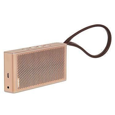 Loewe klang m1 Rose Gold Enceinte sans fil portable Bluetooth avec microphone et dragonne en cuir véritable