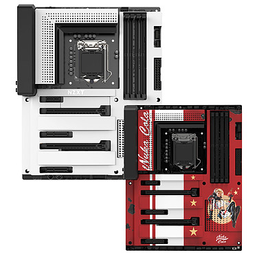 NZXT N7 Z370 - Blanc + Nuka-Cola Cover offert