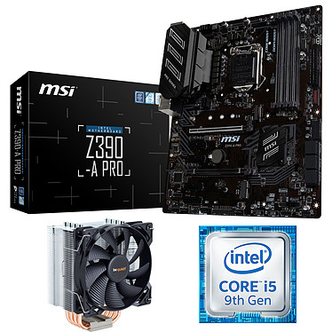 Kit Upgrade PC Core i5 MSI Z390-A PRO Carte mère Socket 1151 Intel Z390 Express + CPU Intel Core i5-9600K (3.7 GHz) + ventirad