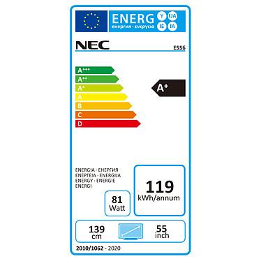 """Avis NEC 55"""" LED - MultiSync E556"""