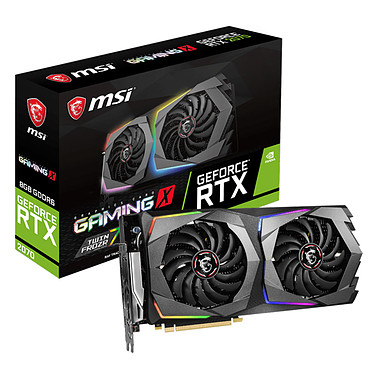 MSI GeForce RTX 2070 GAMING X 8G 8 Go GDDR6 - HDMI/Tri DisplayPort/USB Type-C - PCI Express (NVIDIA GeForce RTX 2070)