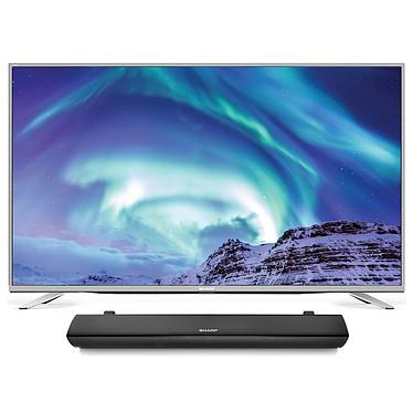"Sharp LC-49CUG8462E + HT-SB106 Téléviseur LED 4K 49"" (124 cm) - 3840 x 2160 pixels - Ultra HD - Wi-Fi - DLNA - Harman/Kardon - 600 Hz + Barre de son 2.0 110 Watts HDMI Bluetooth USB"