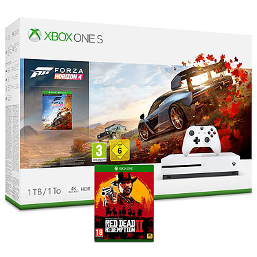 Microsoft Xbox One S (1 To) + Red Dead Redemption 2 + Forza Horizon 4