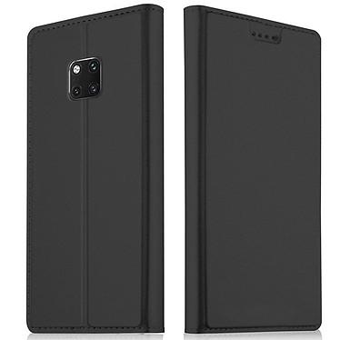 Akashi Etui Folio Porte Carte Noir Huawei Mate 20 Pro Etui folio avec porte carte pour Huawei Mate 20 Pro