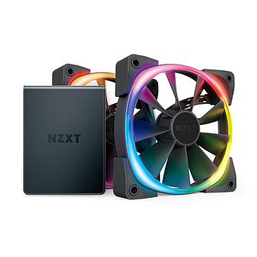 NZXT Aer RGB 2 Twin Starter 120 mm Pack de 2 ventilateurs PWM LED 120 mm à LEDs RGB avec boîtier de contrôle HUE 2