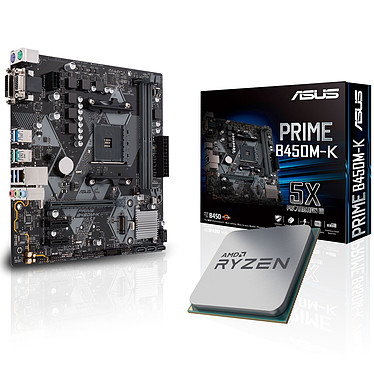Kit Upgrade PC AMD Ryzen 5 2600X ASUS PRIME B450M-K